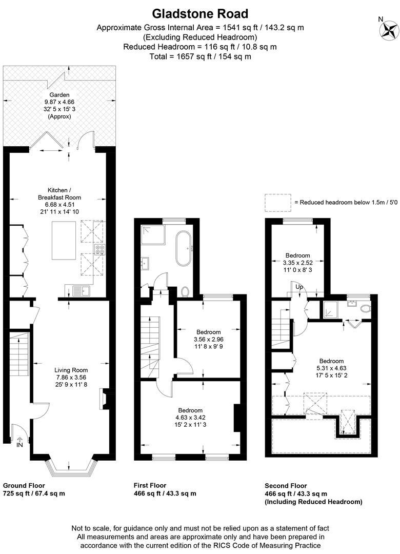 Floorplan for Gladstone Road, Wimbledon
